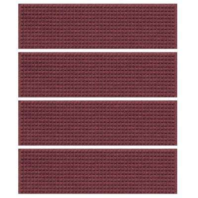 Bordeaux 8.5 in. x 30 in. Squares Stair Tread (Set of 4)