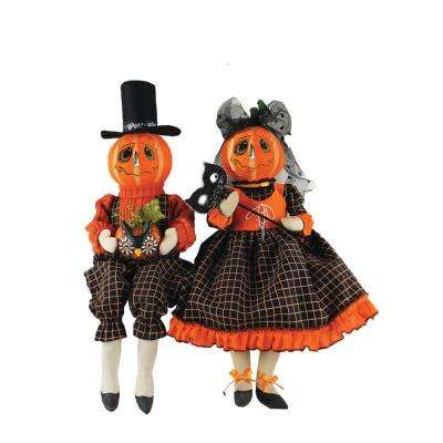 18 in. Jack'O Lantern Couple