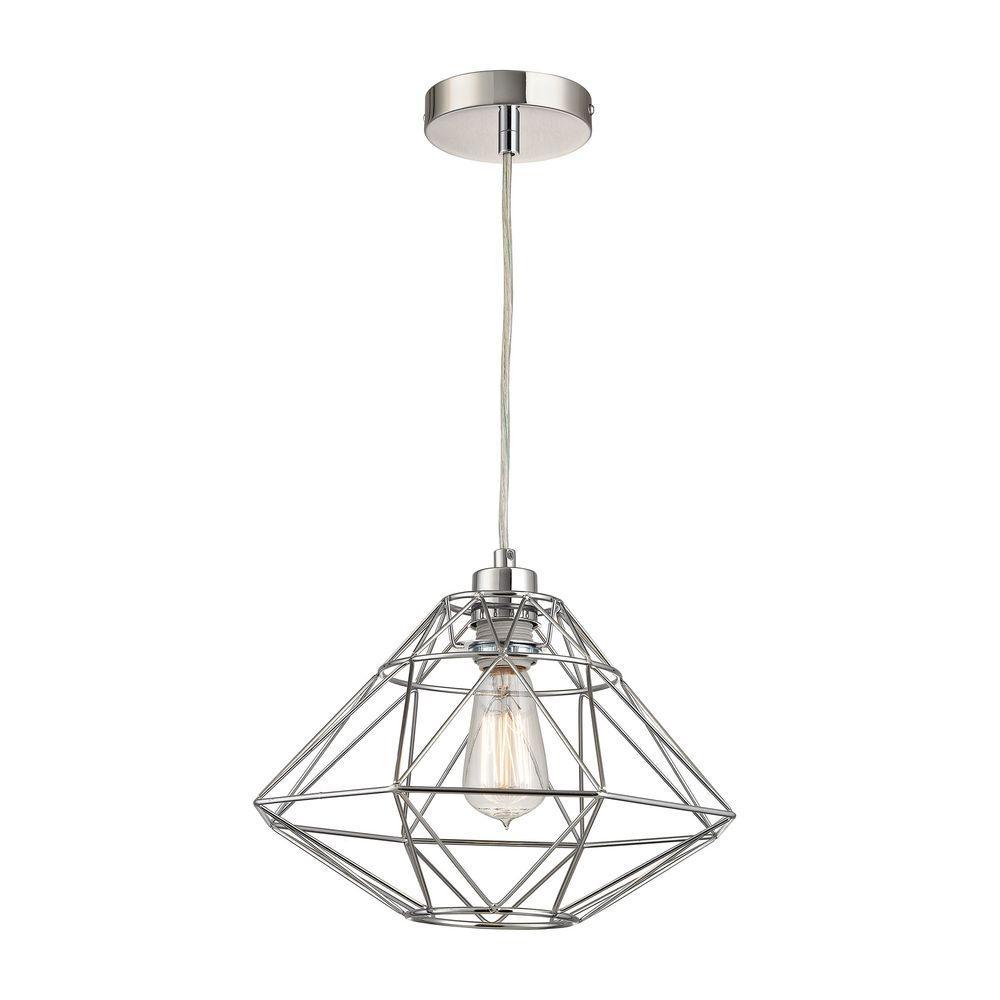 Titan Lighting Paradigm 1 Light Chrome Pendant Tn 998385
