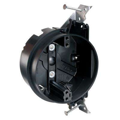 Slater New Work 4 in. Round Captive Mounting Nails Ceiling Box with Auto/Clamps