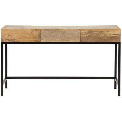 Anjou Natural Desk with Storage