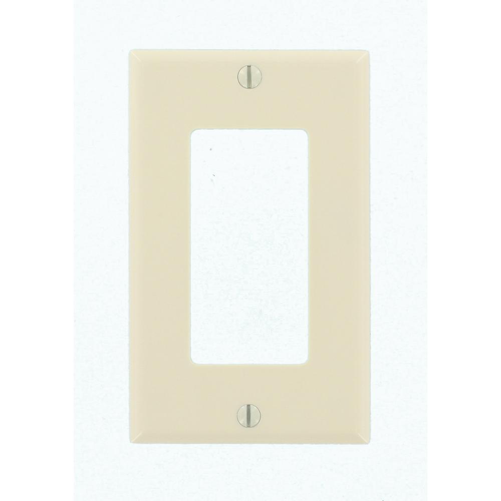 leviton decora 1-gang wall plate, light almond-r59-80401-00t - the