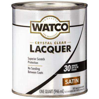 1 qt. Clear Satin Lacquer Wood Finish (6-Pack)