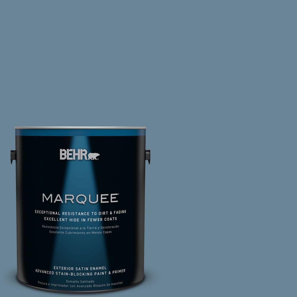 BEHR MARQUEE 1-gal. #MQ5-60 South Pacific Satin Enamel Exterior Paint
