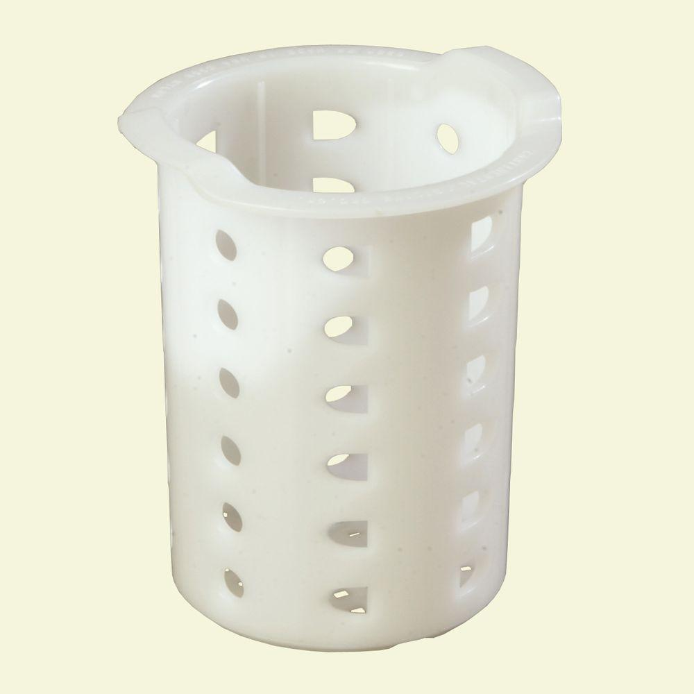 Carlisle 3.71 in. D x 5.0 in. H Flatware Washing Cylinder Polypropylene in White (Case of 12)