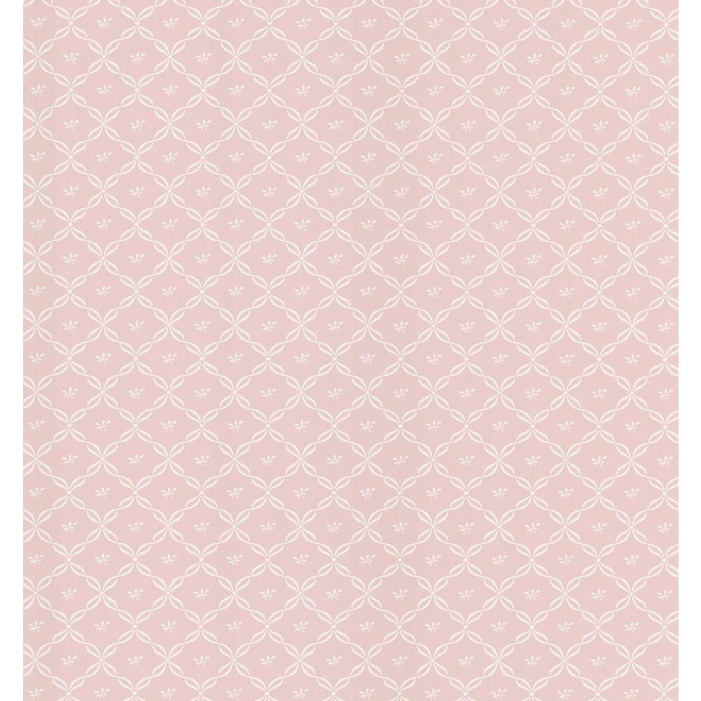 Brewster 56 sq. ft. Ribbon Trellis Wallpaper