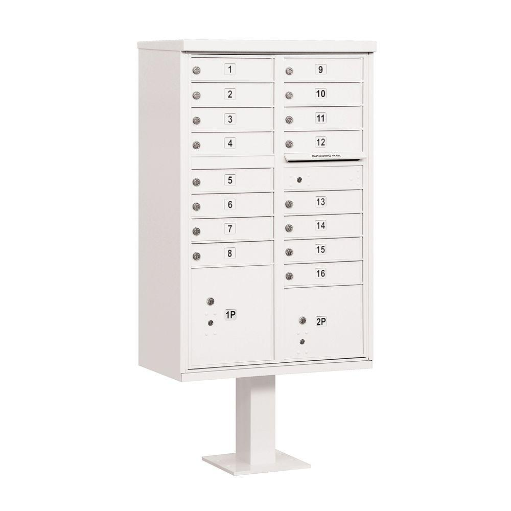 3300 Series White Private 16 A Size Doors Type III Cluster