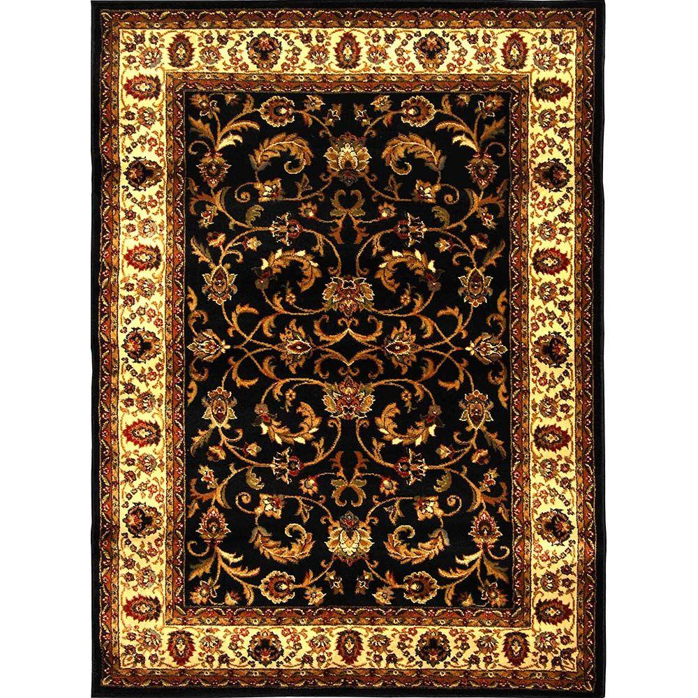 Home Dynamix Royalty Black/Ivory 7 Ft. 8 In. X 10 Ft. 4 In