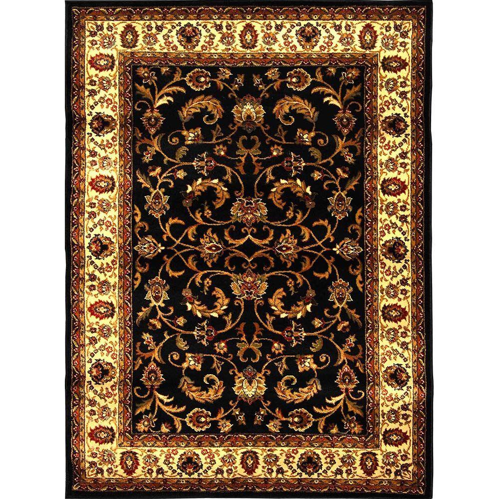 Royalty Black/Ivory 5 ft. 2 in. x 7 ft. 2 in.