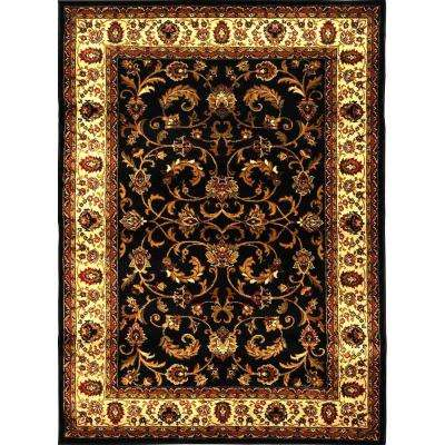 Royalty Black/Ivory 3 ft. 7 in. x 5 ft. 2 in. Indoor Area Rug