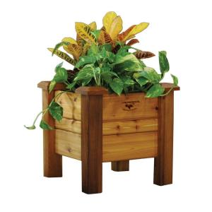 Gronomics 18 inch Square Safe Finish Cedar Planter Box by Gronomics