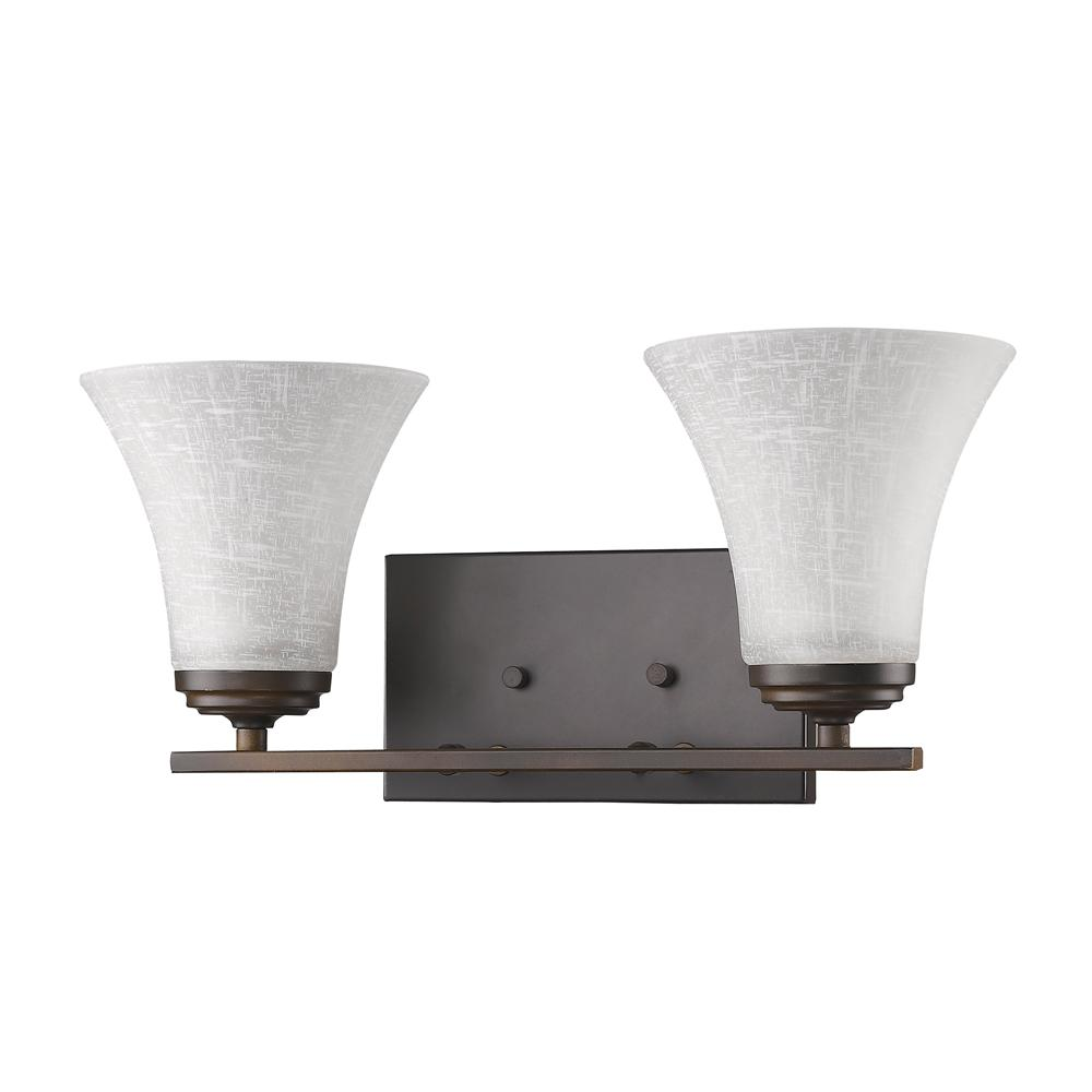 Acclaim Lighting Union 2-Light Oil-Rubbed Bronze Vanity Light with Frosted Glass Shades