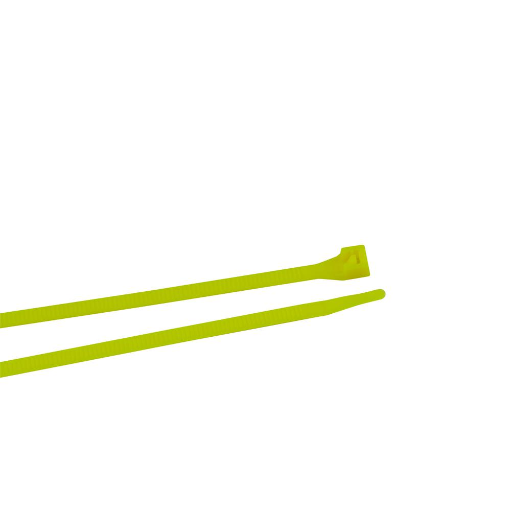 8 in. Cable Tie Fluorescent Green 75 lb. 20-Pack (Case of