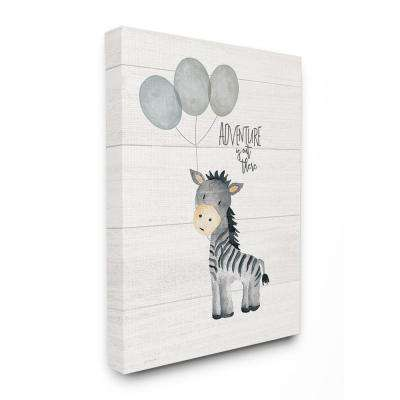 "24 in. x 30 in. ""Adventure Is Out There Zebra"" by Jo Moulton Printed Canvas Wall Art"