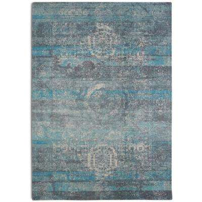 Mirage Distressed Boho Turquoise 7 ft. 6 in. x 9 ft. 6 in.  Area Rug