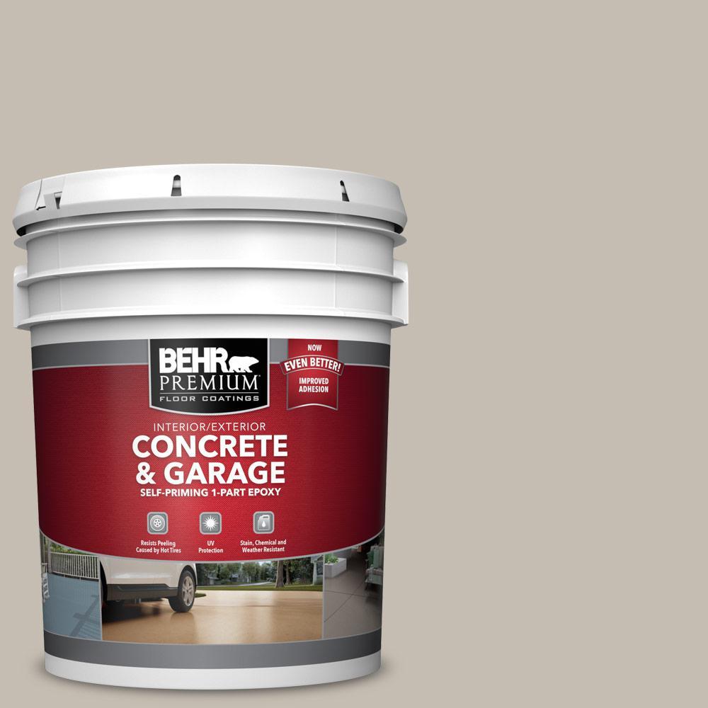 5 gal. #N320-3 Tanglewood Self-Priming 1-Part Epoxy Satin Interior/Exterior Concrete and Garage Floor Paint