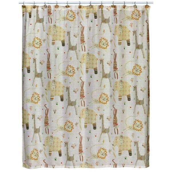 Creative Bath Animal Crackers 72 in. x 72 in. Nature-Themed Shower