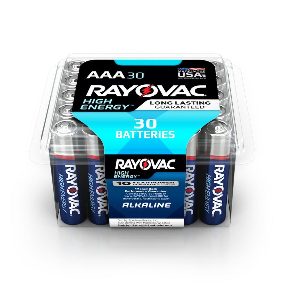 High Energy Alkaline AAA/1.5 Volt Battery (30-Pack)