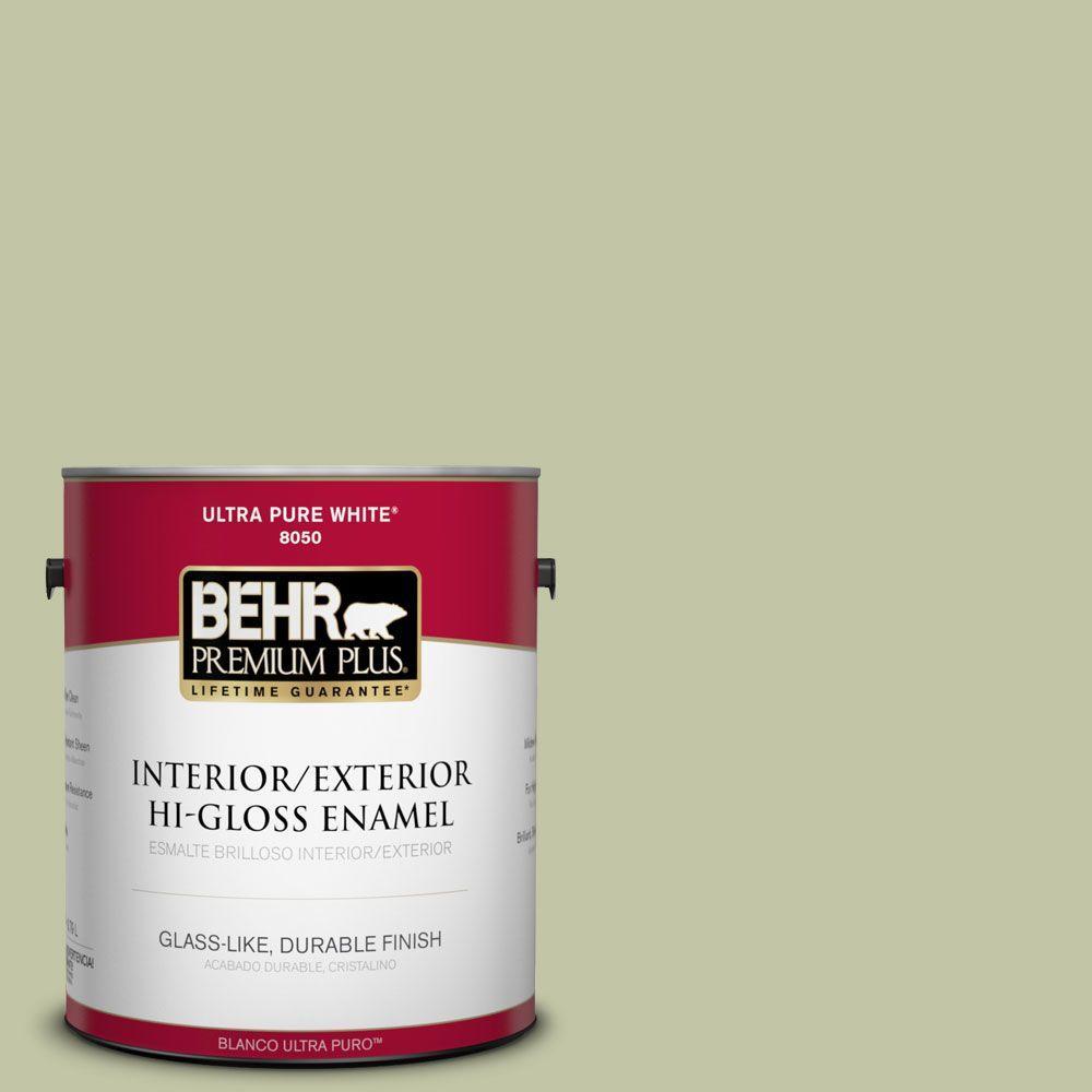 BEHR Premium Plus 1-gal. #410E-3 Rejuvenate Hi-Gloss Enamel Interior/Exterior Paint
