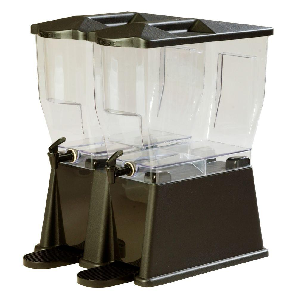 3 gal. Double Reservoir Economy Trim Polycarbonate Beverage Dispenser in Black