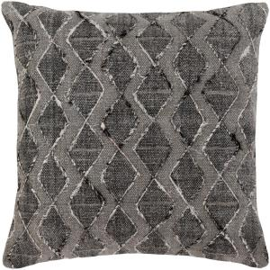 Kalyan Black Geometric Polyester 20 in. x 20 in. Throw Pillow