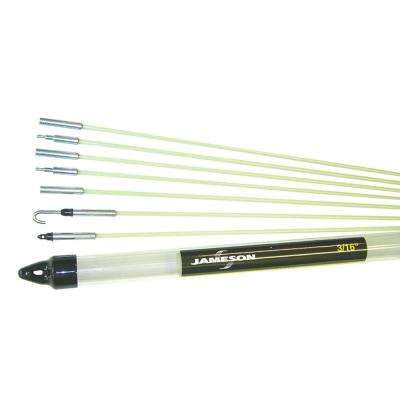 3/16 in. x 10-1/2 ft. Fiberglass Glow Fish Rod Kit