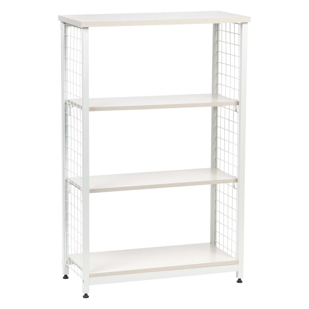 Iris 47 24 In Off White Metal 3 Shelf