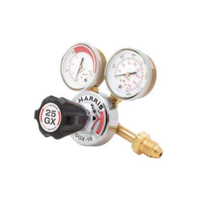 25GX 9/16 in. Acetylene Regulator with Gauges