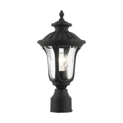 Oxford 1-Light Textured Black Outdoor Post Top Lantern