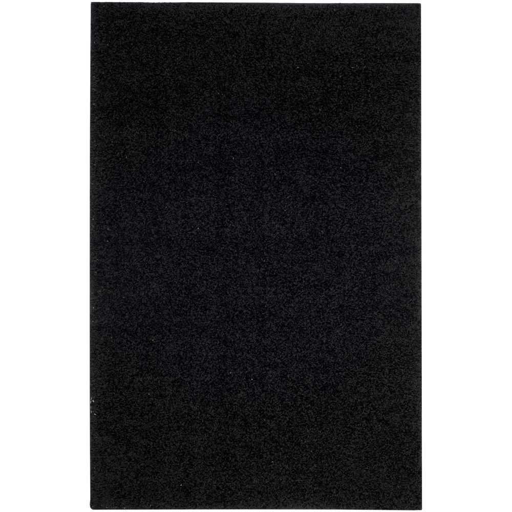 Athens Shag Black 4 ft. x 6 ft. Area Rug