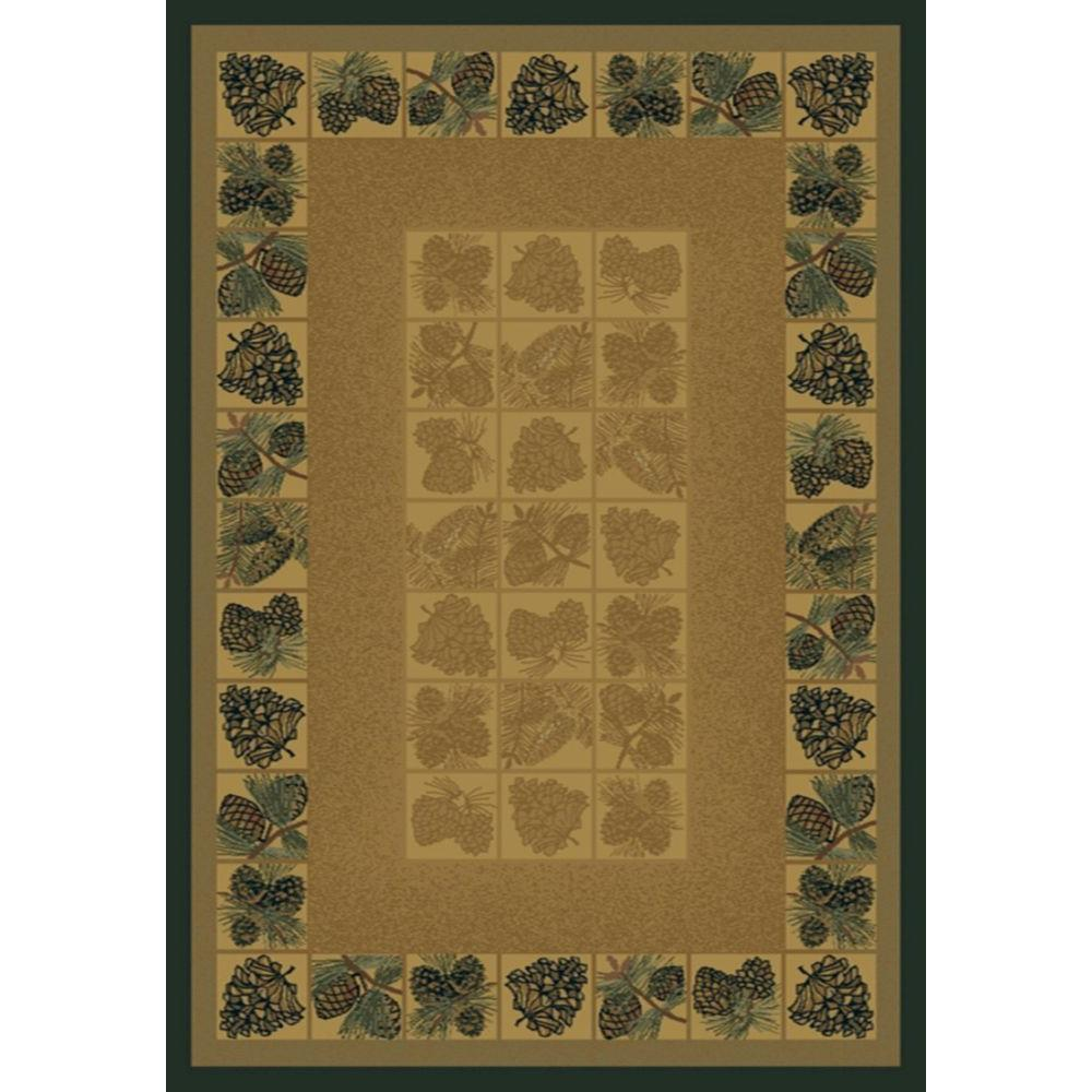 United Weavers Pine Cones Natural 5 ft. 6 in. x 7 ft. 6 in. Area Rug