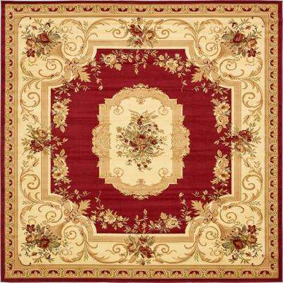 Versailles Henry Red 10' 0 x 10' 0 Square Rug