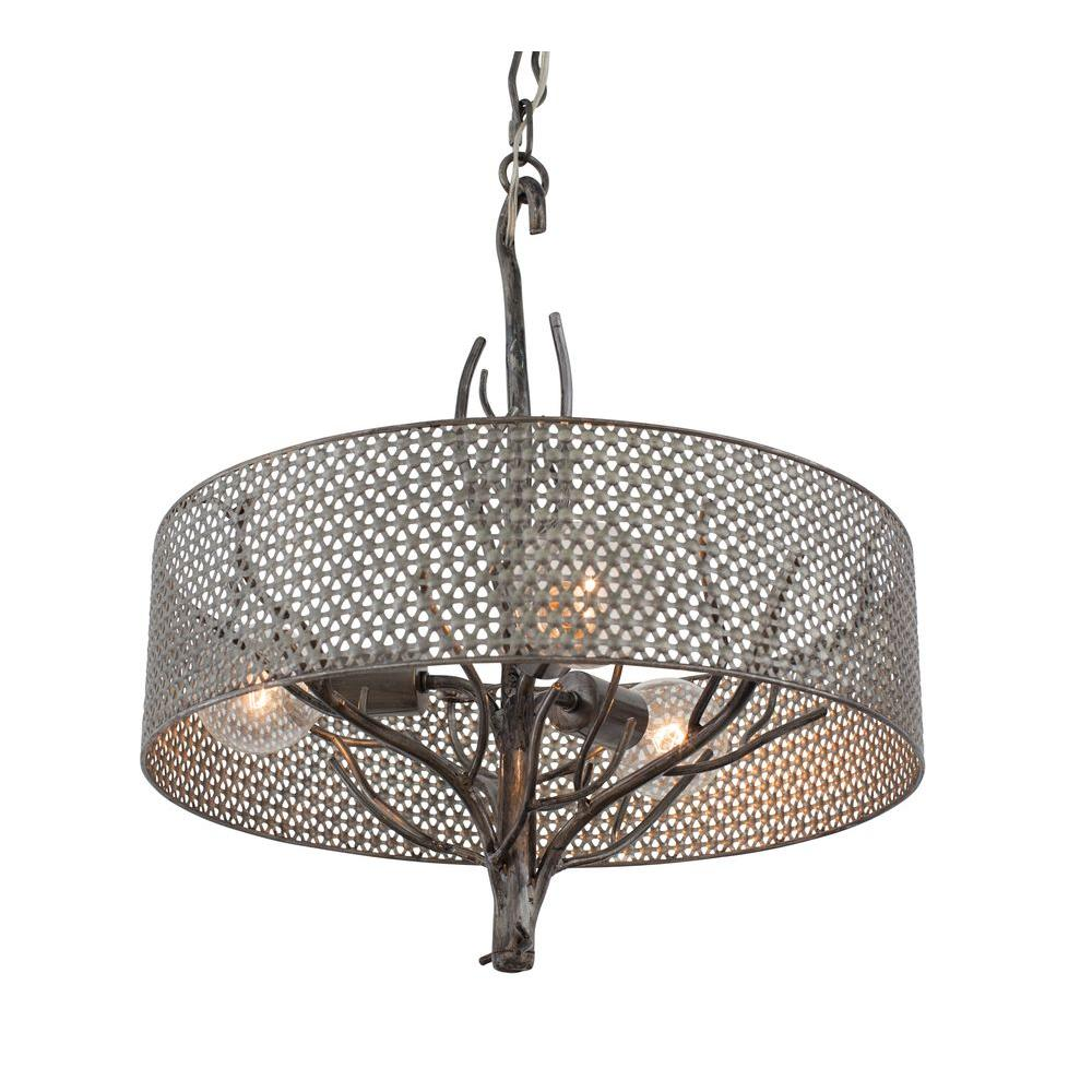 Donut Wire Mesh Pendant Lights Trusted Wiring Diagram Light Varaluz Treefold 3 Steel With Recycled
