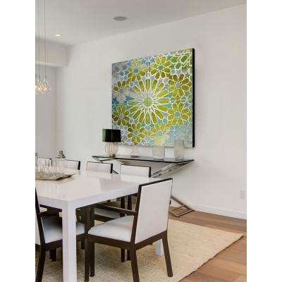 """18 in. H x 18 in. W """"Boucles"""" by Parvez Taj Printed Brushed Aluminum Wall Art"""