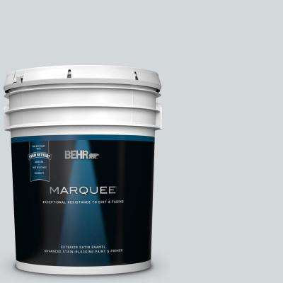 5 gal. #MQ3-25 Gray Shimmer Satin Enamel Exterior Paint and Primer in One