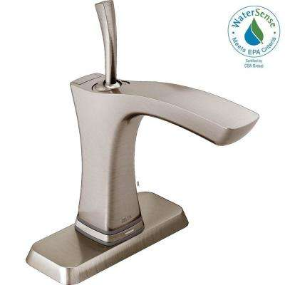 Tesla Single Hole Single-Handle Bathroom Faucet with Touch2O Technology in Stainless