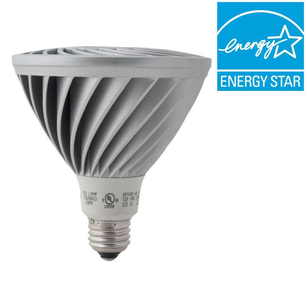 Definity 90W Equivalent Neutral White (4000K) PAR38 Dimmable Narrow Flood LED Light Bulb