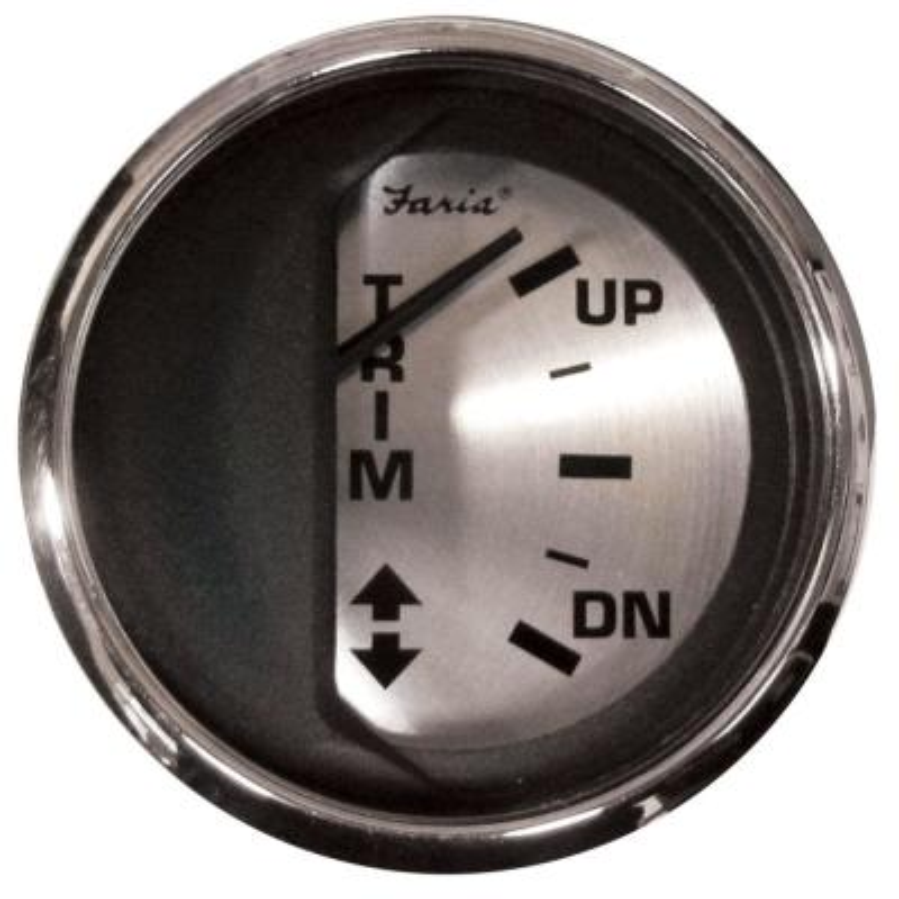 Faria 2 Oil Pressure Gauge Spun Silver 80 PSI