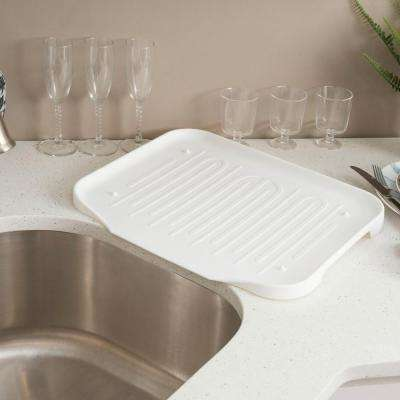 17.0 in. x 14 in. x 1.25 in. Dish Rack Tray in White