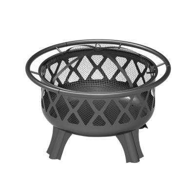 30 in. Round Steel Patio Backyard Wood Burning Fire Pit