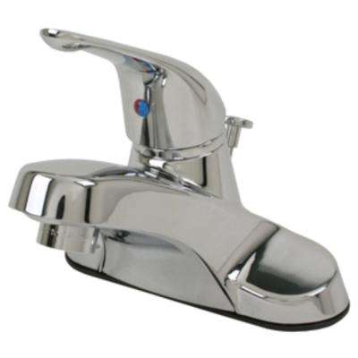 4 in. Centerset Single-Handle Bathroom Faucet with matching Pop-Up Assembly in Chrome
