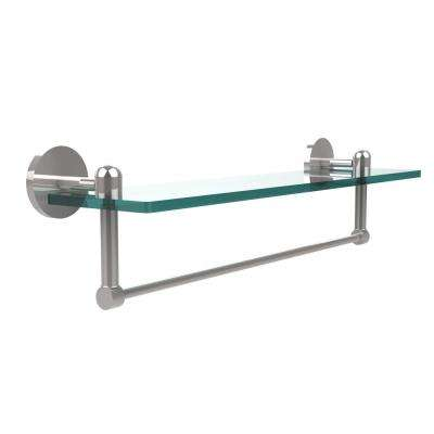 Tango Collection 22 in. Glass Vanity Shelf with Integrated Towel Bar in Polished Chrome