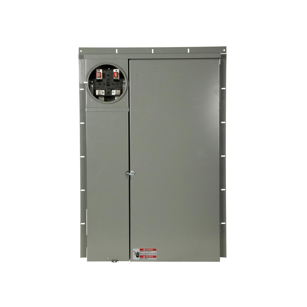BR 200 Amp 40-Circuit Outdoor EUSERC Meter Breaker Panel
