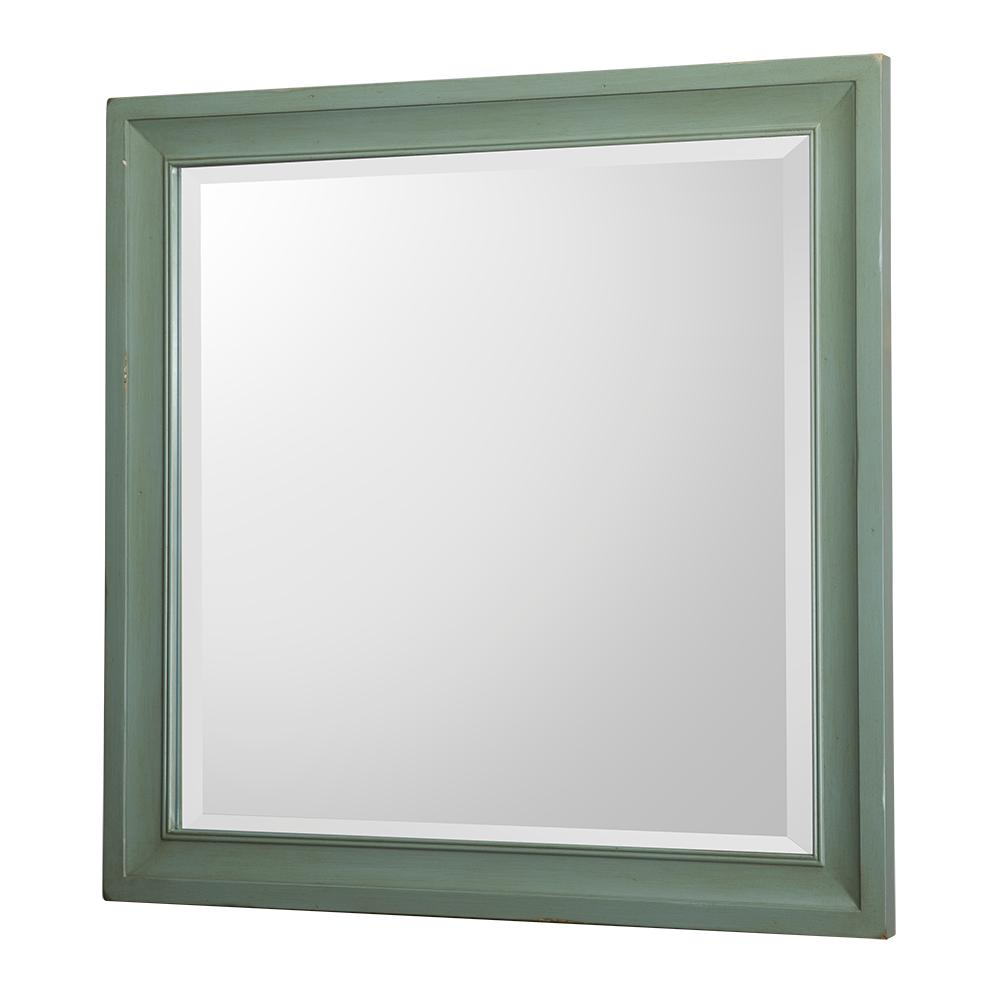 Home Decorators Collection Hazelton 30 In W X 30 In H Single Square Wall Mirror In Antique