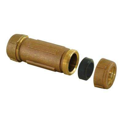 1/2 in. x 3/4 in. x 5 in. Long Pattern Brass Compression Coupling