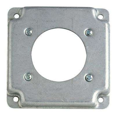 4 in. Square Box Cover for 30 or 50 Amp Receptacle (Case of 10)