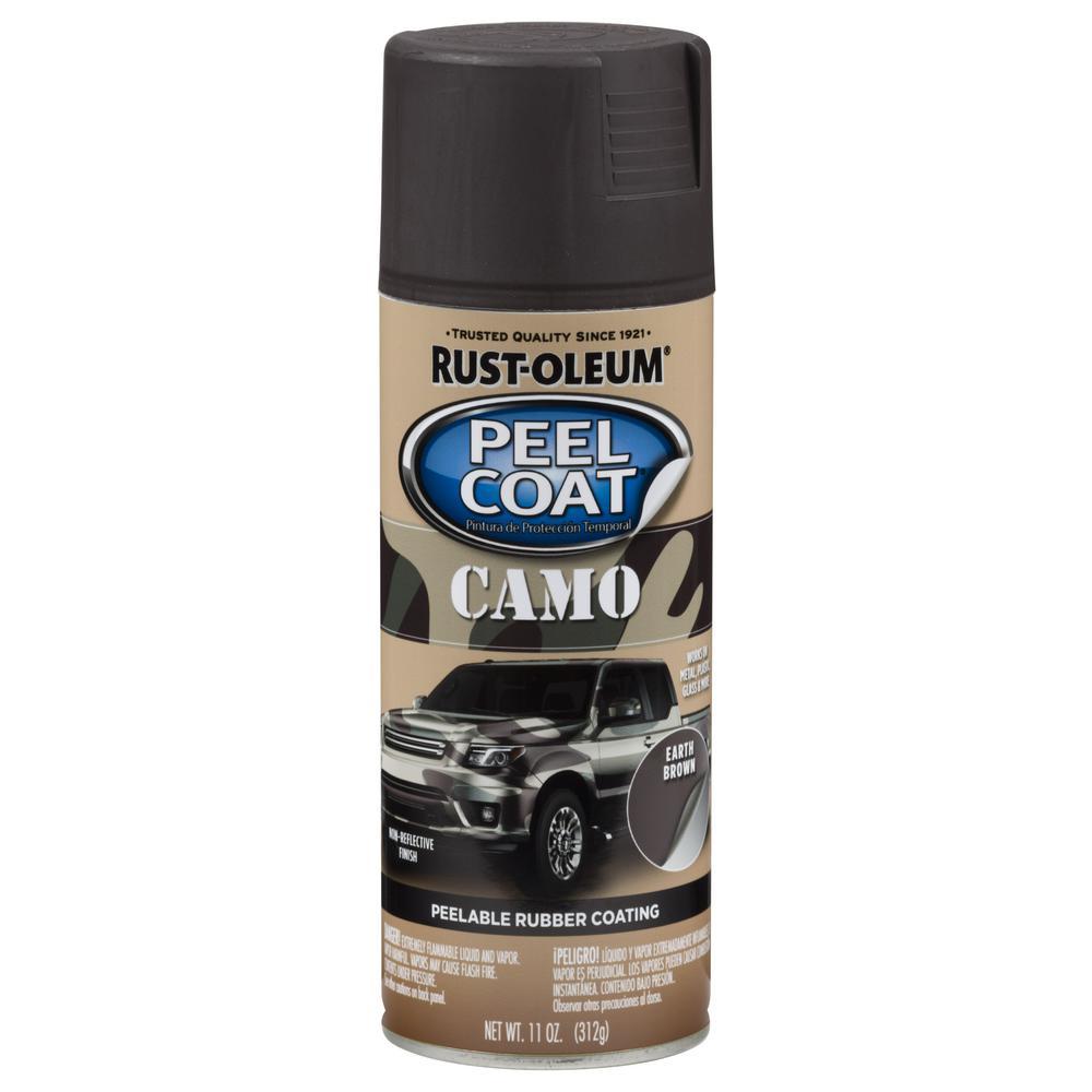 11 oz. Peel Coat Gloss Camo Brown Rubber Coating Spray Paint (6-Pack)