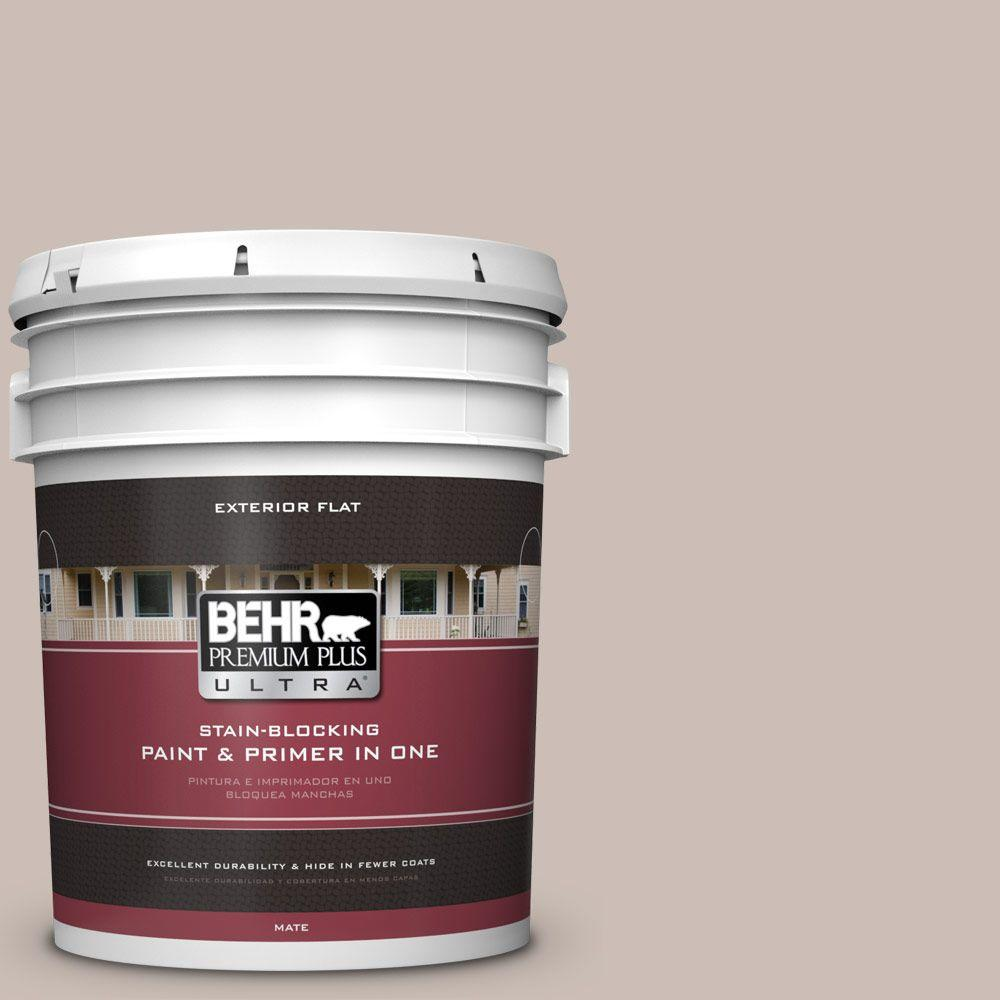 BEHR Premium Plus Ultra 5-gal. #N180-3 Race Track Flat Exterior Paint
