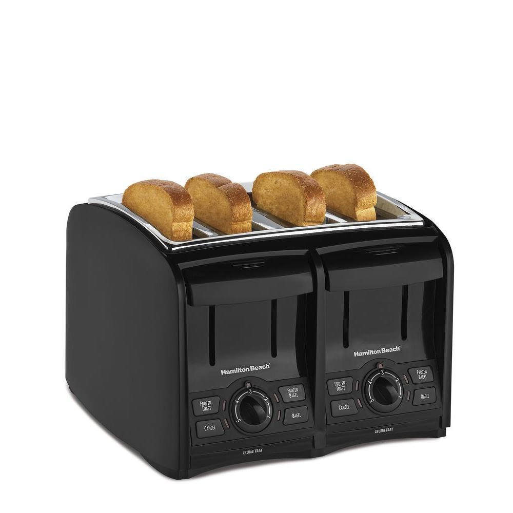 Hamilton Beach 4-Slice Black Toaster