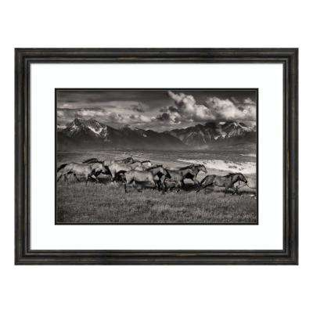 """Mountain Range Mavericks"" by Lisa Dearing Framed Wall Art"